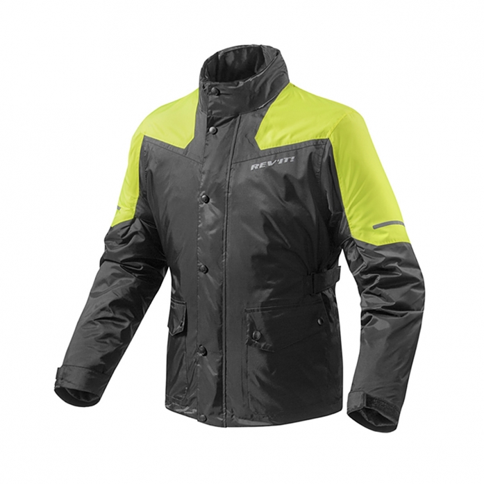 레빗 REV'IT NITRIC2 RAIN JACKET BLK/NE-YE