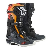 알파인스타즈 TECH 10 BLACK/GRAY/ORANGE/RED FLUO
