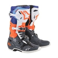 알파인스타즈 TECH 10 C.GRAY/ORANGE FLUO/BLUE/WHITE