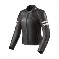 레빗 머리디언 여성용 가죽 자켓 (REV'IT MERIDIAN LADY LEATHER JACKET BLACK/WHITE)